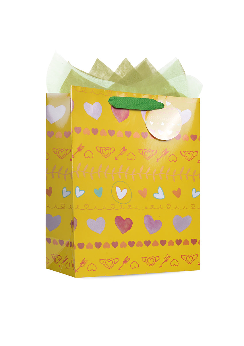 Hand-Painted Heart Paper Bag