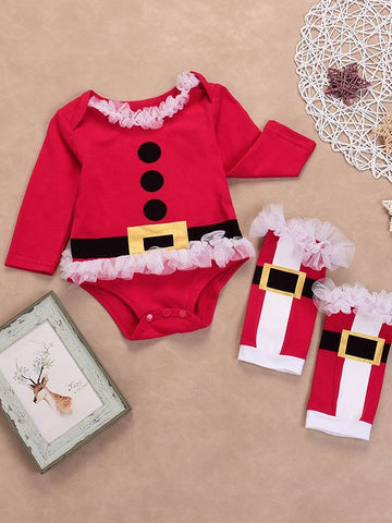 Santa Baby Romper and Leg Warmers