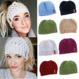 Variety of Colors, Casual Ponytail Winter knit Skullies-nbemporium.com