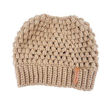 Variety of Colors, Casual Ponytail Winter knit Skullies