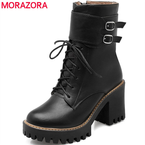 Double buckle High Platform Boots-nbemporium.com