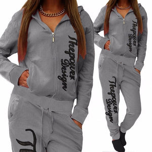 Casual Print Two Piece Athletic Suit