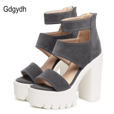Gdgydh Fashion Summer Shoes Gladiator Women Sandals Open Toe Thick Heels 13cm-Nikkis Beauty Emporium