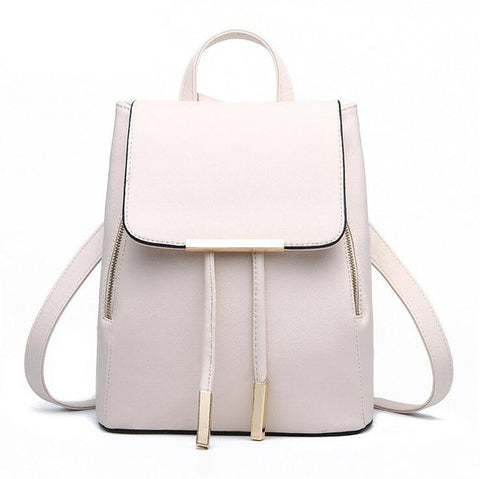 Women Backpack High Quality PU Leather Mochila Escolar School Bags For Teenagers Girls Top-handle Backpacks Herald Fashion-Nikkis Beauty Emporium