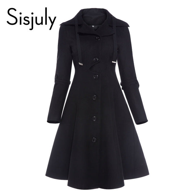 Asymmetric Elegant Winter Coat