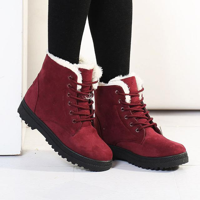 Fashion warm snow boots 2017 heels winter boots new arrival women ankle boots women shoes-Nikkis Beauty Emporium