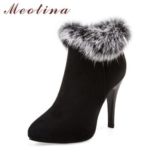 Load image into Gallery viewer, Ankle Fur High Heels-nbemporium.com
