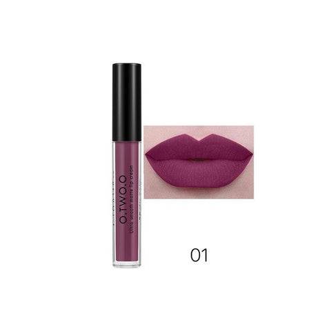 O.TWO.O Liquid Matte Lipstick 12 Colors Available Pumpkin Red Waterproof Ultra Smooth Mat Lip Cream Cosmetic Makeup