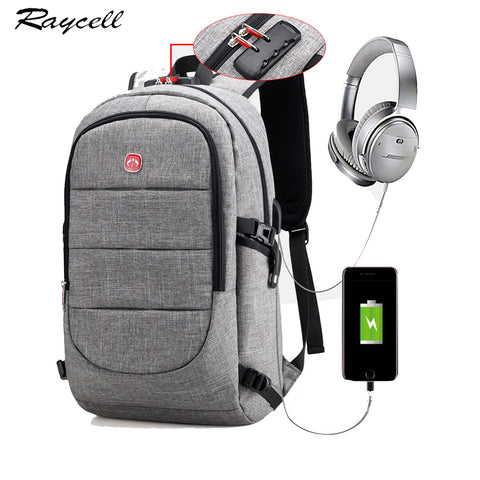 USB Charging Headphone Interface Port Lock Business Backpack, Feel the Beat-nbemporium.com