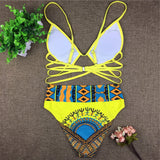 Tribal Plus Size Print Swimsuit Suit