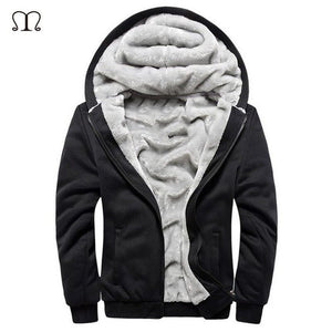 Cardigan Hooded Casual Thick Wool Mens Coat-nbemporium.com