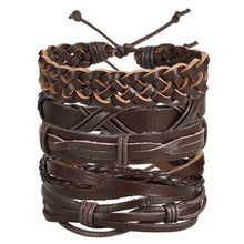 Load image into Gallery viewer, Rugged Refined Casual Wear Mens Leaf Style Leather Bracelet