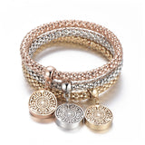 Tree of Life Bracelet Popcorn Owl Heart Anchor Musical Note Charm Bracelets For Women