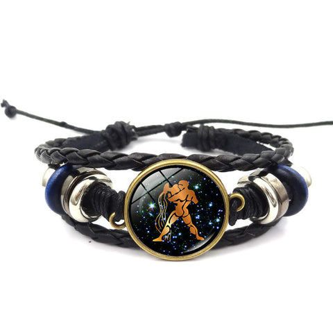 The Ultimate  Zodiac Signs Leather Bracelet, which sign is for you