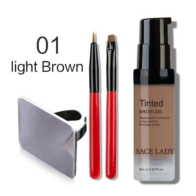 Fill your Brows with Waterproof Eyebrow Shadow Enhancer Tint Brush Kit