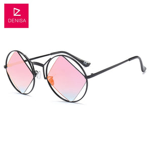 Retro Round Diamond Sunglasses-nbemporium.com