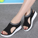 Low Wedge Platform Style Sandals-nbemporium.com