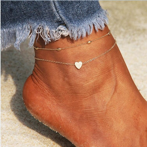 RscvonM Heart Anklet Chain anytime wear Jewelry