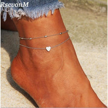 Load image into Gallery viewer, RscvonM Heart Anklet Chain anytime wear Jewelry