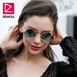 Retro Round Diamond Sunglasses