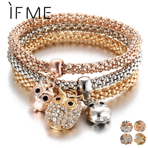 Beautiful Rose Gold Charm Bracelets-nbemporium.com
