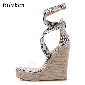 High Fashion Print Wedges-nbemporium.com