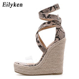 High Fashion Print Wedges