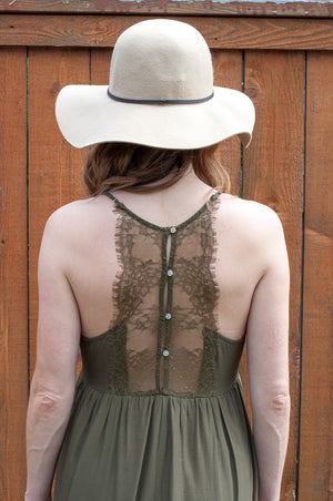 Grace and Lace Tiered Maxi Olive