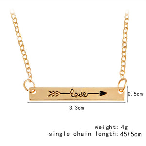 Love arrow necklace $12