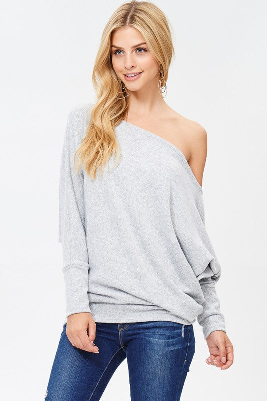 White Birch Off the Shoulder Knit