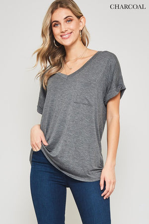 Chloe Basic Pocket Tee