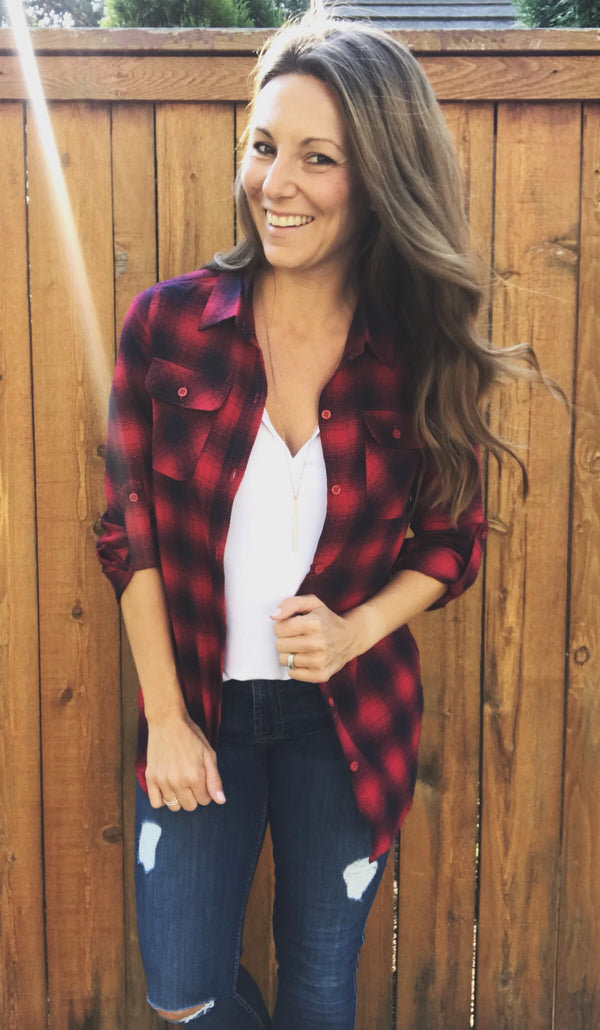 Inso Flannel Button Up