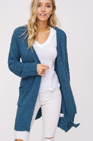 Adore Me Cozy Cardigan Teal