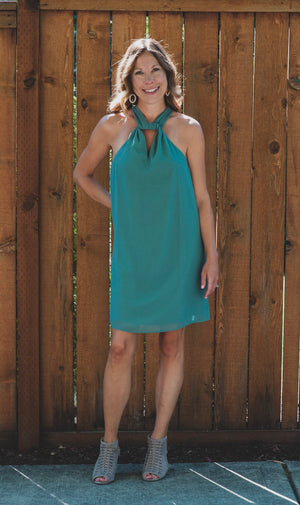 Easy Breeze Neck Wrap Dress