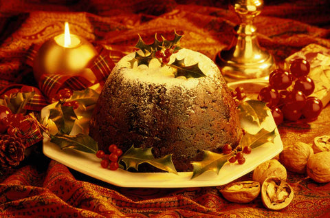 The Yule plum pudding is said to bring good fortune. Peter Dazeley / Image Bank / Getty Images