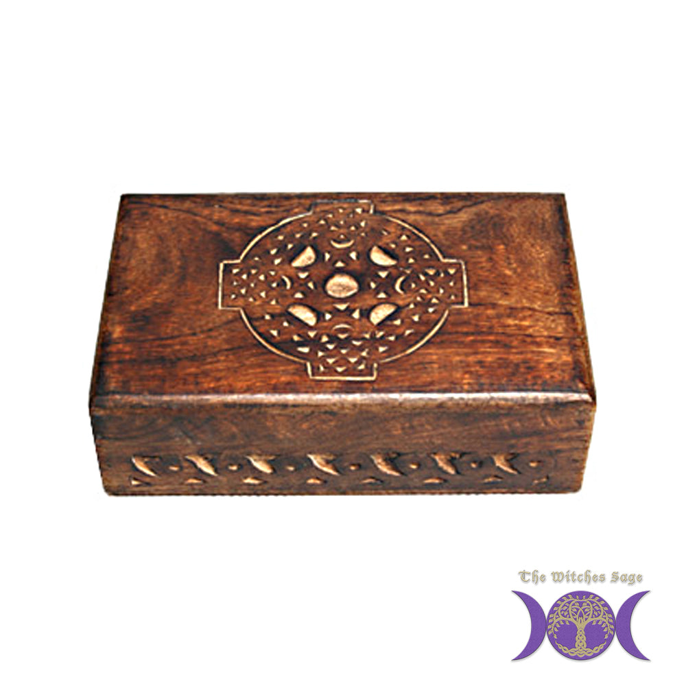 Celtic Cross Wood Box