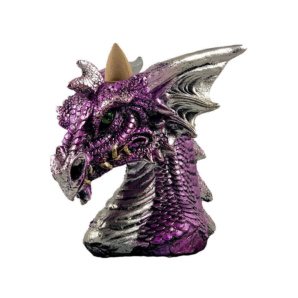Purple Dragon Head Backflow Cone Burner