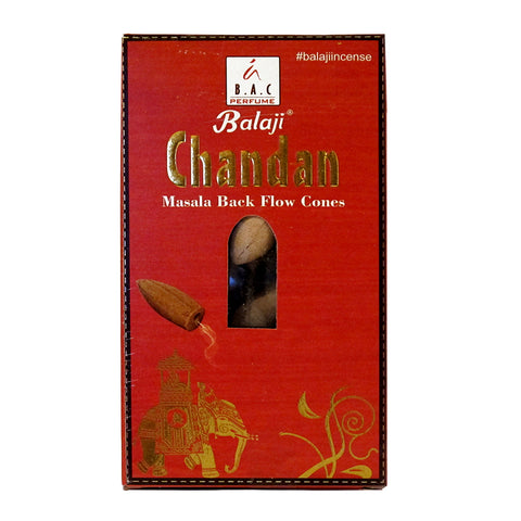 Balaji Chandan Masala Backflow Incense Cones