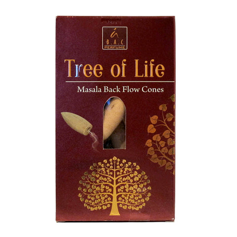 Balaji Tree of Life Masala Backflow Incense Cones