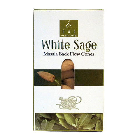 Balaji White Sage Masala Backflow Incense Cones