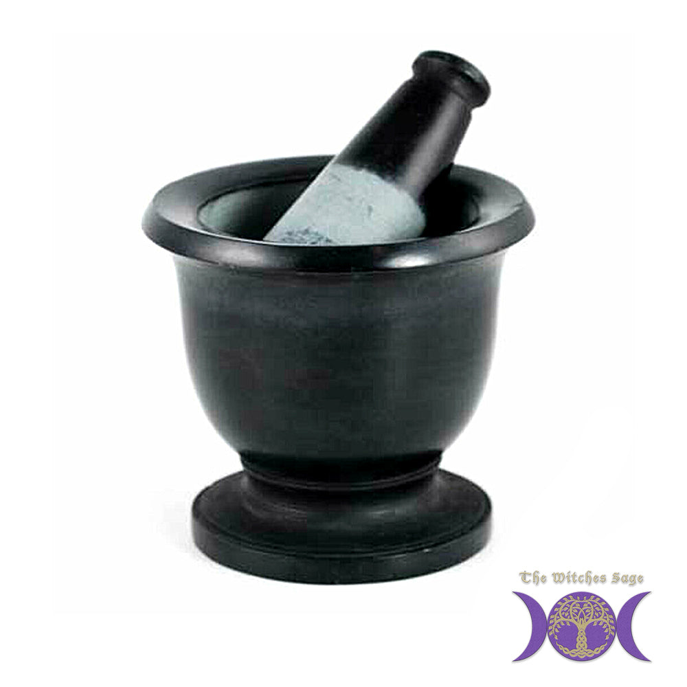 Black Stone Mortar & Pestle