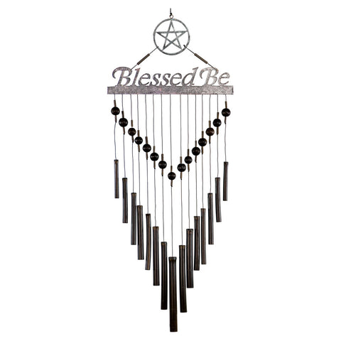 Bamboo Wind Chime - Blessed Be