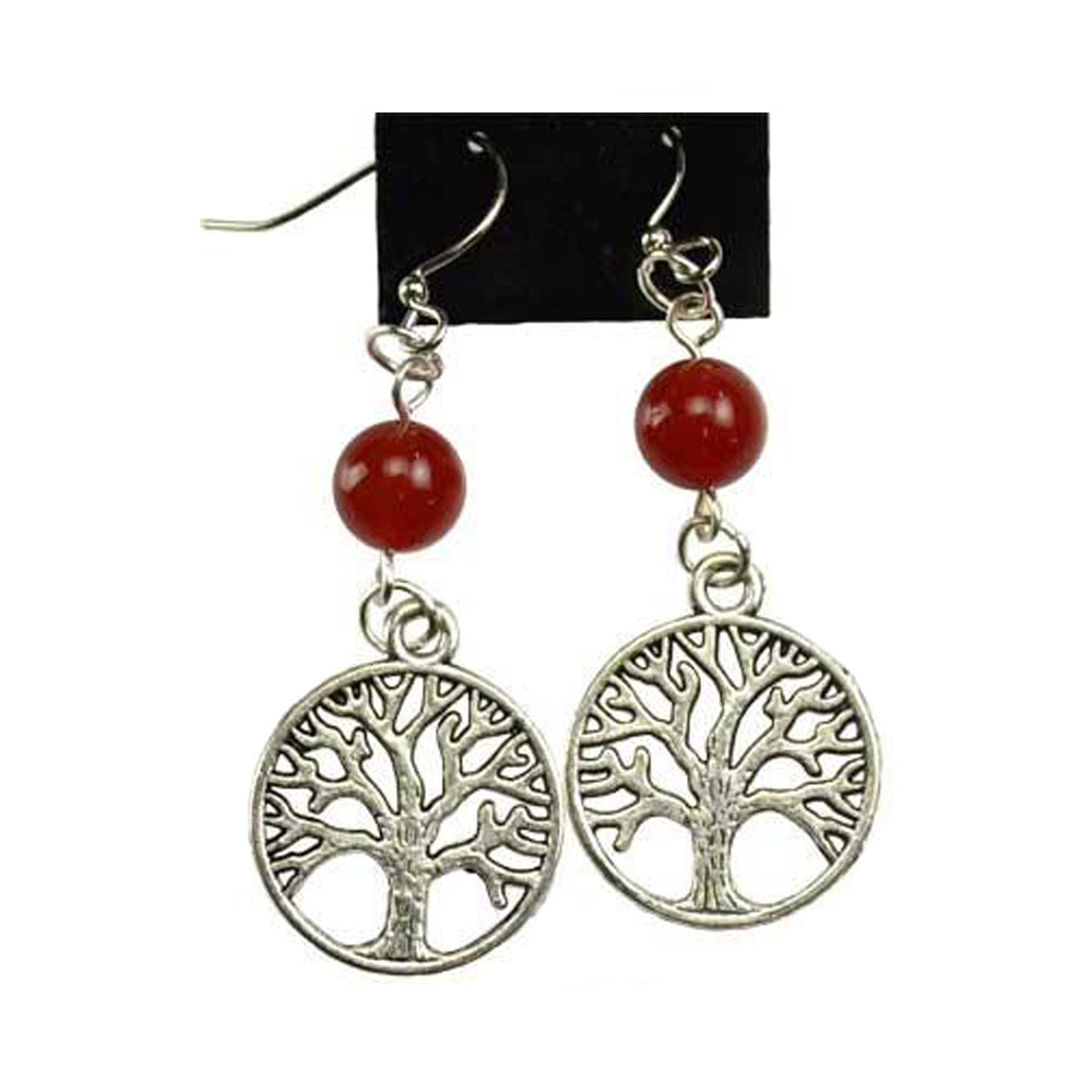 Tree of Life Earring - Carnelian