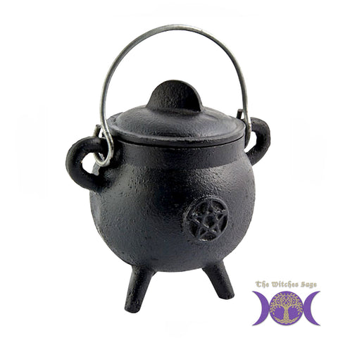 "Cast Iron Cauldron - Pentacle 4-1/2"" x 2-3/4"""