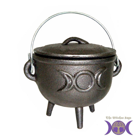 Cast Iron Cauldron - Triple Moon
