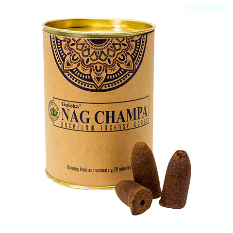 Goloka Nag Champa Backflow Incense Cones