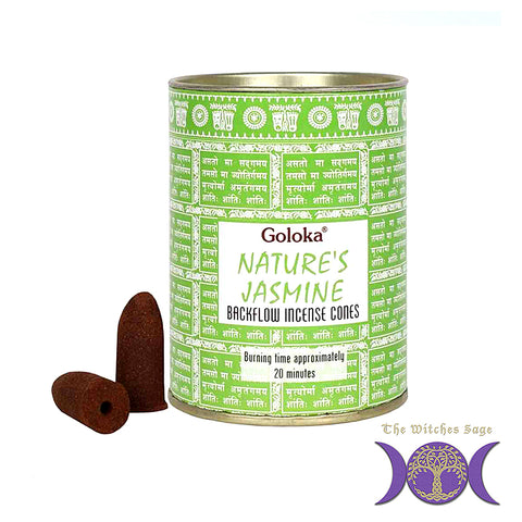 Goloka Natures Jasmine Backflow Incense Cones