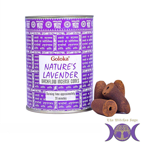 Goloka Natures Lavender Backflow Incense Cones