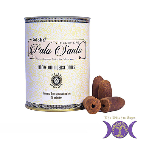 Goloka Palo Santo Backflow Incense Cones