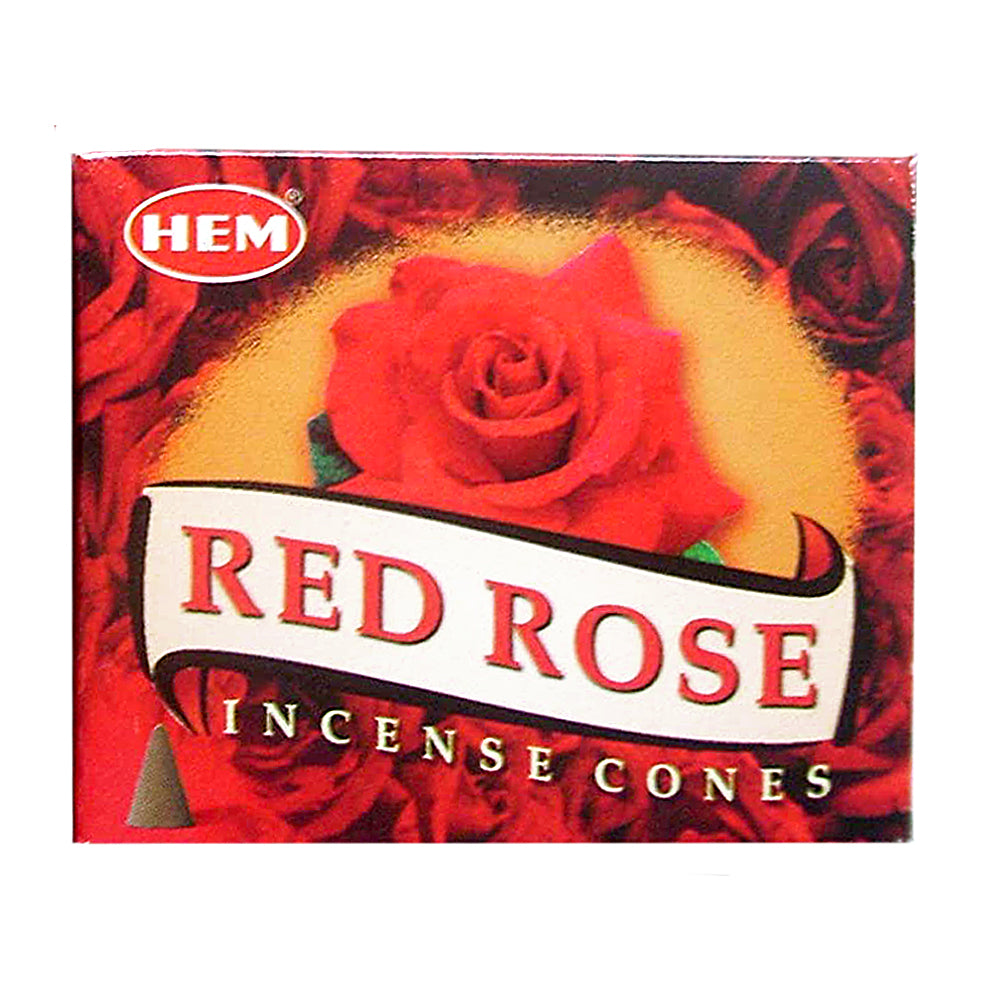 HEM Red Rose Incense Cones